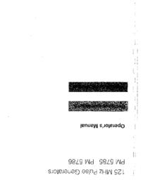 Instrukcja obsługi Philips PM 5785
