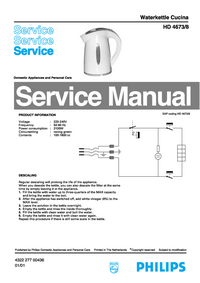 Service Manual Philips Cucina HD 4673/8