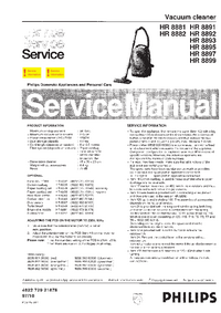 Manual de servicio Philips HR 8891