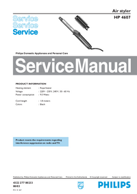 Manual de servicio Philips HP 4607