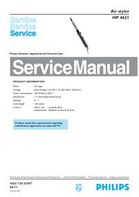 Manual de serviço Philips HP 4621