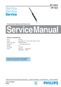 Manual de servicio Philips HP 4622