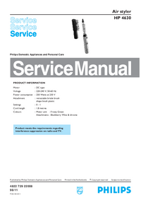 Service Manual Philips HP 4630