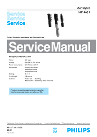 Manual de servicio Philips HP 4631