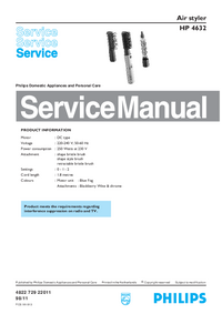 Serviceanleitung Philips HP 4632