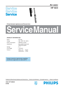 Manual de servicio Philips HP 4633