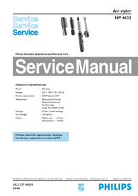 Manual de servicio Philips HP 4635