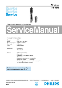 Manual de servicio Philips HP 4649