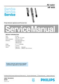 Servicehandboek Philips HP 4650