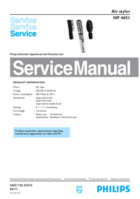 Manual de servicio Philips HP 4651