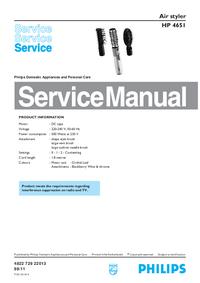 Instrukcja serwisowa Philips HP 4651