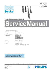 Manual de servicio Philips HP 4652