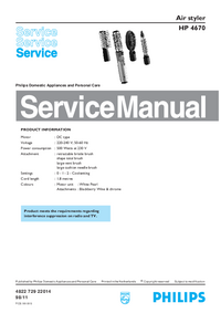 Manual de servicio Philips HP 4670