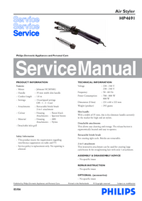 Service Manual Philips HP 4691