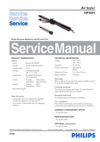 Instrukcja serwisowa Philips HP 4691