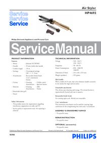 Instrukcja serwisowa Philips HP 4693