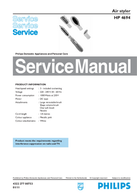 Service Manual Philips HP 4694