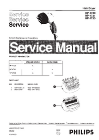 Manual de servicio Philips HP 4731