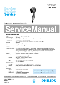 Service Manual Philips HP 4770