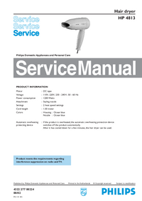 Manual de servicio Philips HP 4813