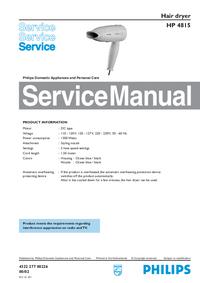 Manuale di servizio Philips HP 4815