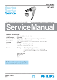 Service Manual Philips HP 4822