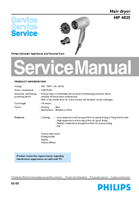 Service Manual Philips HP 4825