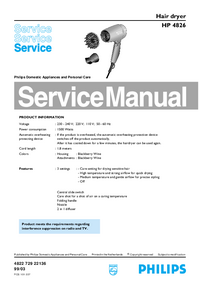 Manual de servicio Philips HP 4826