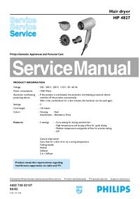 Manual de servicio Philips HP 4827