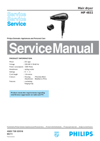 Manual de servicio Philips HP 4832