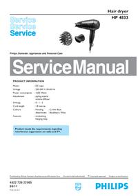 Manuale di servizio Philips HP 4833