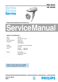 Manual de servicio Philips HP 4834D