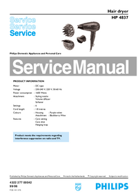 Manual de servicio Philips HP 4837