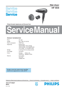 Service Manual Philips HP 4838
