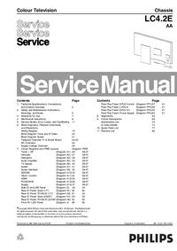 Manual de serviço Philips LC4.2E AA