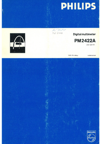 Service and User Manual Philips PM2422A