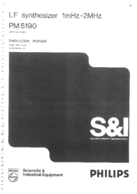 Service et Manuel de l'utilisateur Philips PM5190