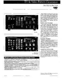 Datasheet Philips PM 5518