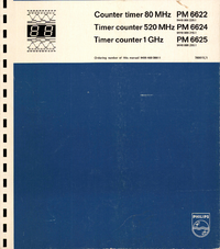 Service and User Manual Philips PM 6622
