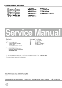 Manual de servicio Philips VR730/58