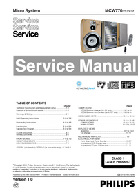 Service Manual Philips MCW770/21/22/37