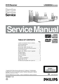 Manual de servicio Philips LX8300SA/ 01/04/05