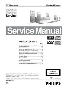 Service Manual Philips LX8300SA/ 01/04/05