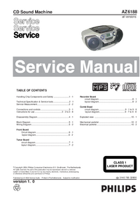 Service Manual Philips AZ6188