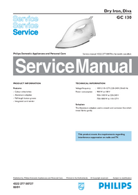 Service Manual Philips Diva GC 130