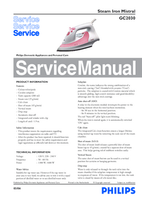 Service Manual Philips Mistral GC2030