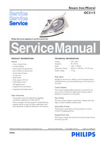 Servicehandboek Philips Mistral Gc2115