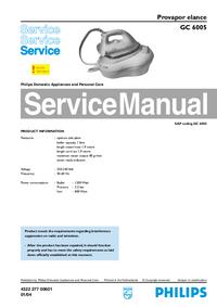 Manuale di servizio Philips GC 6005