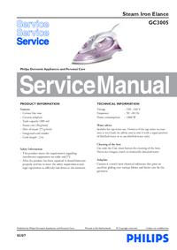 Manual de servicio Philips Elance GC3005