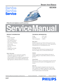 Service Manual Philips Elance GC3020